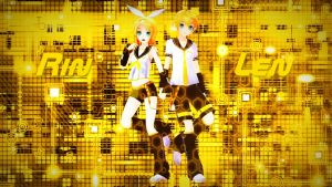 [MMD] Rin and Len by Snorlaxin