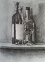 Still Life (Bottles and Glass) by SigmaVita