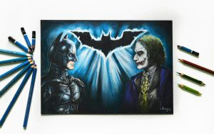 Batman vs Joker by AueySupaluk