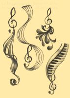 Treble Clef Designs by NynjaKat