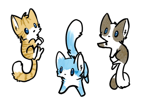Blue Eyed Batch Adoptables SOLD OUT! by GlitterPrincessxox