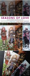 SEASONS OF LOVE Bookmark Set by aimo