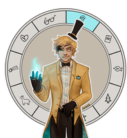 Bill Cipher | Animated GIF [with Speedpaint!] by sasoes