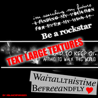 Text large texture by xblaackparadex