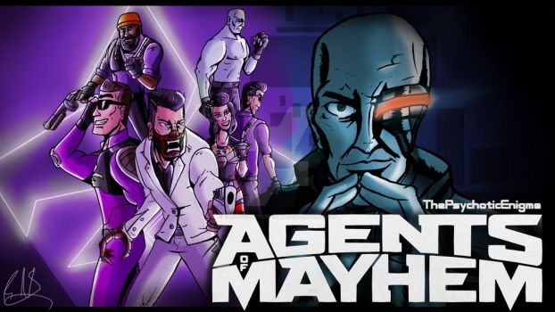 Agents of Mayhem Let's Play Thumbnail (Speedpaint) by ThePsychoticEnigma