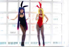 The Bunnies - Panty and Stocking I by EnchantedCupcake