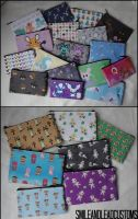 Pokemon and Animal Crossing Pouches For Sale!