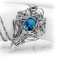 THARDNYRTH - Silver, Blue Quartz and Topaz. by LUNARIEEN