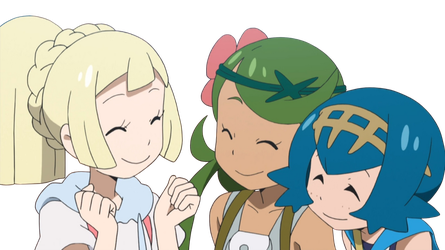 Lillie, Mallow, and Lana Render by AshleyTheSkitty