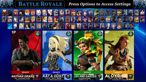 PlayStation All-Stars Round 2: New Roster by LeeHatake93