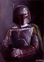 Boba Fett card 325 by charles-hall