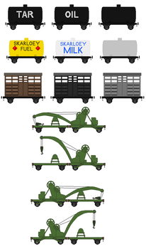 Narrow Gauge Rolling Stock V2 by DanielArkansanEngine