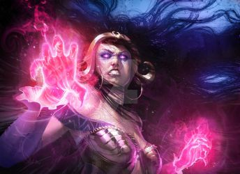 Angry Liliana (Magic The Gathering Fanart) by PierreDroal