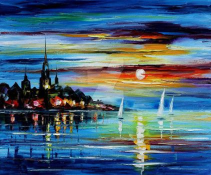 I Saw A Dream 2 by Leonid Afremov by Leonidafremov