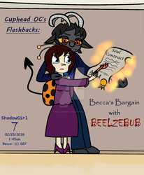 Cuphead OC Backstory Doodle - Becca's Bargain... by ShadowGirl7