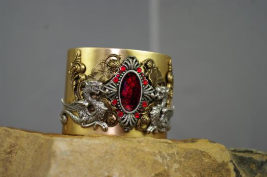 neo Gothic, victorian cuff for mEEEEE by MonstersInThewall