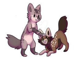 Mizhue and Tabemu by lunar-neo