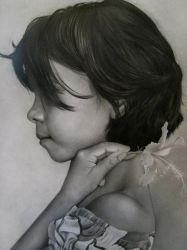 Girl with Flower Finished by killaby
