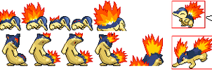 Cyndaquil and Quilava revamps by Sydzilla96