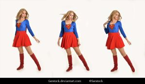 Supergirl  - Stock model reference pack 2 by faestock