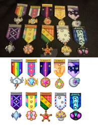 Pony Military Medals by CloverPuffArt