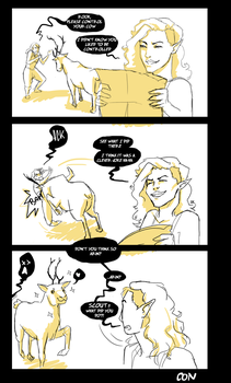 bad jokes and a reindeer by crazy-or-nah