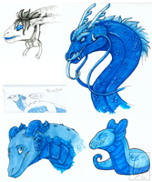 BLUE DOODLES by RAIDEO-MARS