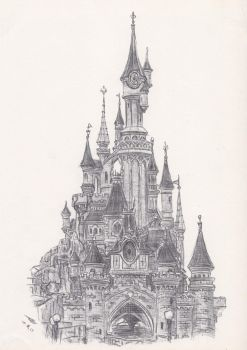 Disneyland Paris: Castle Front by TomBromley