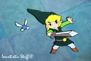 Toon Link and Navi Foamy by inu-chan-free