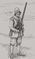 Matchlock Musketeer - 1642 by Xamlllew