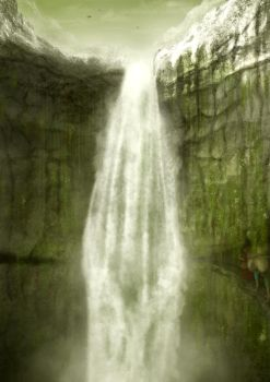 The Great Waterfall by Aredhelebenesse