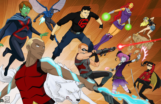 Young Justice - Teen Titans crossoverthing - Part2 by BrotherToastyCakes