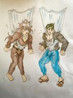 Request - Nekomaru + Gonta wedgies by Black-Chocobo99