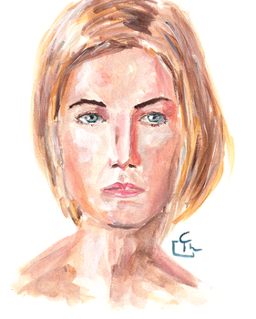 Female Portait - Quick Painting by HeroFromMars