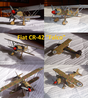 Fiat CR-42 Falco by Teratophoneus