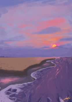 Sea and Sun - study by leoDrafts