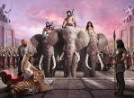 Elephants by JdelNido