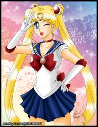 [Redraw] + sailor moon + by amethyst-rose