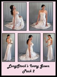 Ivory Gown Pack 2 by LongStock
