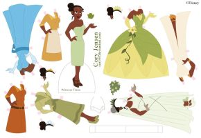 Princess Tiana Paper Doll by Cor104