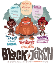 BLACK TORCH: SOME CHARACTERS by scrotumnose