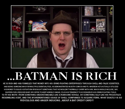 Batman Is Rich Demotivational Poster by Jyger85
