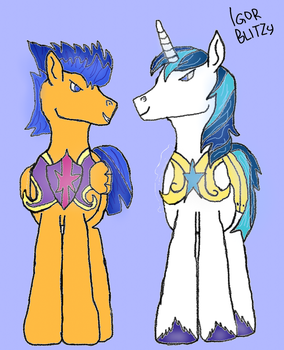 Flash Sentry  Shining armor outfit swap by xXBLITZyXx