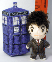 Itty Bitty 10th Doctor Doll Cross Stitch 3D by rhaben