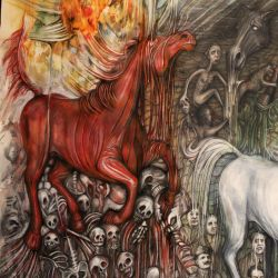 When the Horses of Apocalypse are cuming/RedHorse by KaterinaRss