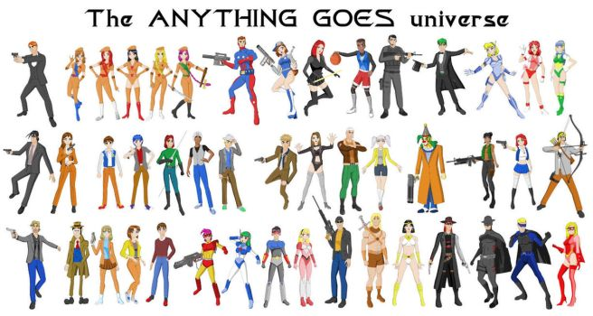 Anything Goes Universe collage by Dangerman-1973