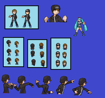 Custom trainer sprites:Branden(Updated) by pinkfloyd1234