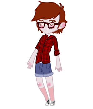 Flannel and Shorts by AnimeGirl1235