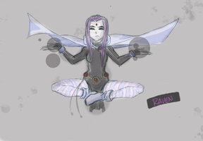Raven redesign by Dark-Eyed-Junco