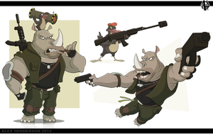 Rhino and Oxpecker - Updated by AlexanderHenderson